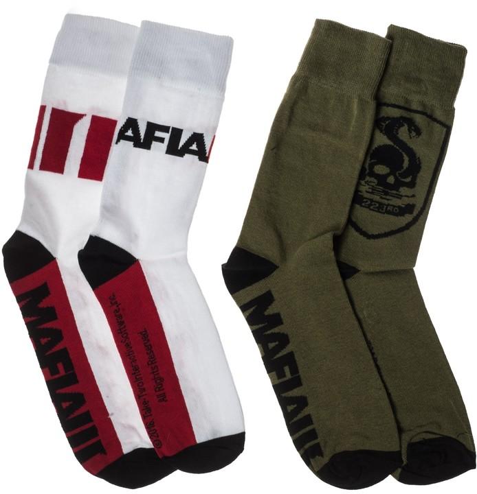 Ponožky Mafia III - Military a Logo