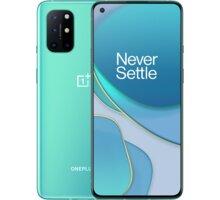 OnePlus 8T, 12GB/256GB, Aquamarine Green Kryt na Oneplus 8T, Carbon Black v hodnotě 990 Kč + Originál 3D ochranné sklo na Oneplus 8T v hodnotě 490 Kč