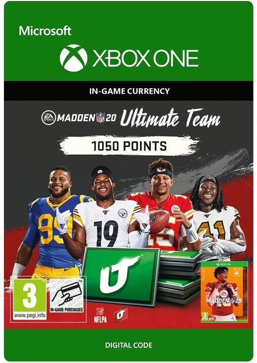 Madden NFL 20 - 1050 MUT Points (Xbox ONE) - elektronicky