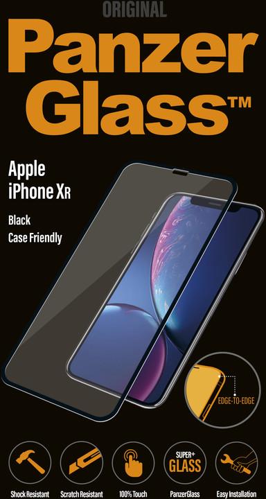PanzerGlass Edge-to-Edge pro Apple iPhone Xr, černé