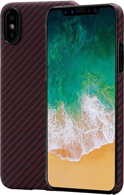 Pitaka Aramid case iPhone X, černá/ červená