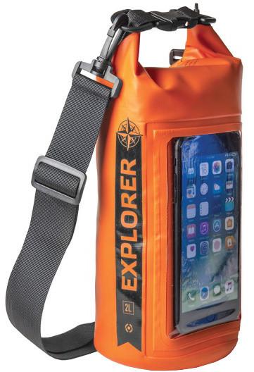 """CELLY voděodolný vak Explorer 2L s kapsou na telefon do 6,2"""", oranžový"""
