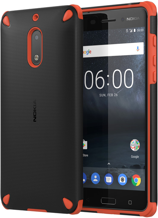 Nokia Rugged Impact Case CC-501 for Nokia 6, oranžová/černá