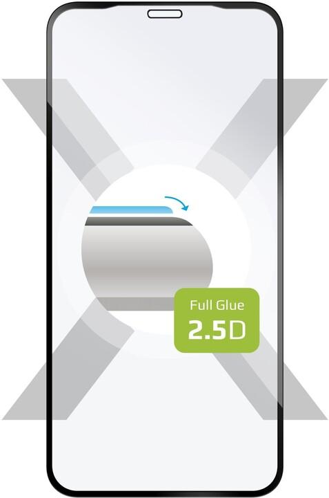 FIXED ochranné tvrzené sklo Full-Cover pro iPhone XR/11, lepení přes celý displej, černá