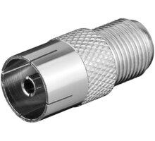PremiumCord adaptér, redukce F zásuvka / IEC zásuvka - kjr-43
