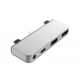 HyperDrive 4 v 1 USB-C Hub pro iPad Pro 2018, stříbrná
