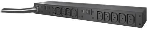 APC rack PDU, 1U, 30A, 208V, (10) C13