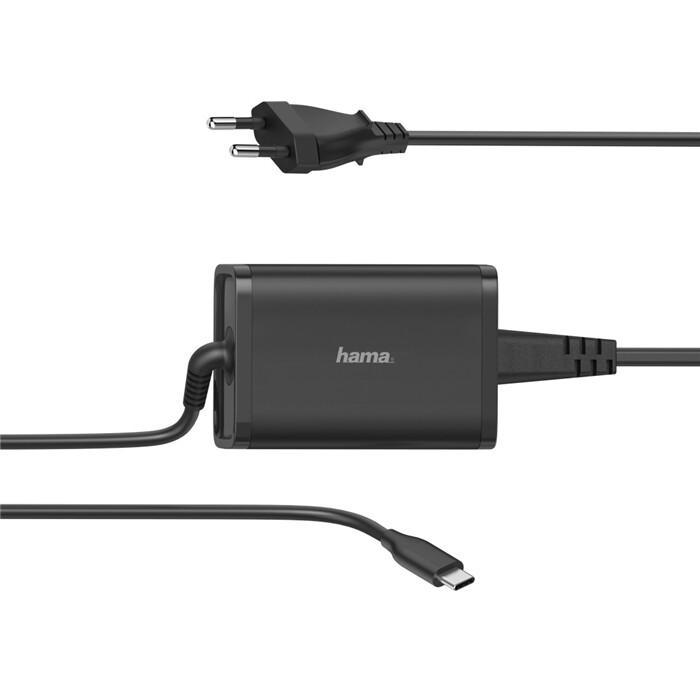 Hama napájecí zdroj USB-C, PD, 5-20V/3.25A, 65W, černá