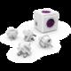 PowerCube REWIRABLE USB + Travel Plugs rozbočka 4 zásuvka, růžová