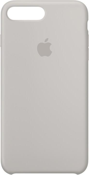 Apple Silikonový kryt na iPhone 7 Plus/8 Plus – kamenně šedý