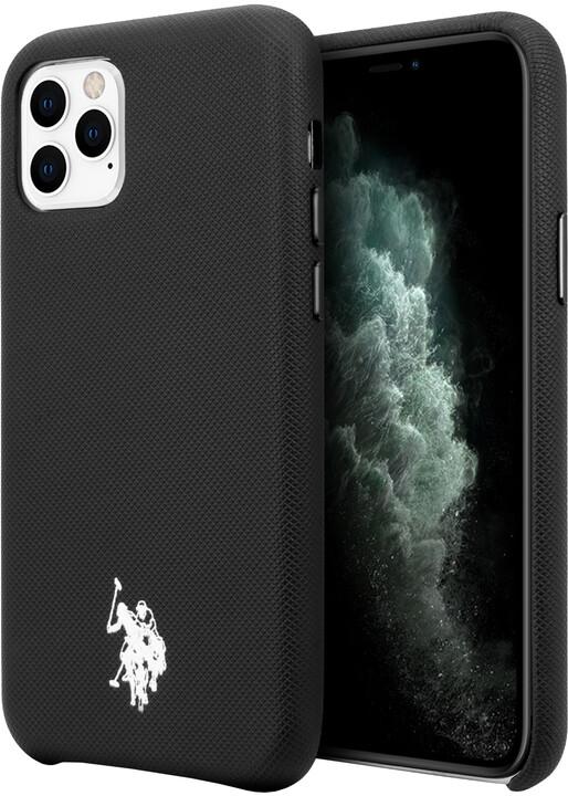 U.S. Polo ochranný kryt Wrapped Polo pro iPhone 11 Pro Max, černá