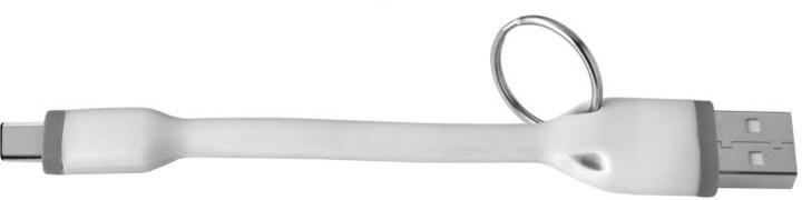 CELLY USB kabel s konektorem USB-C, 12 cm, bílý