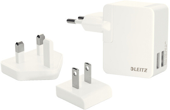 Leitz TravellerUSB Wall Dual Charger 12W wt