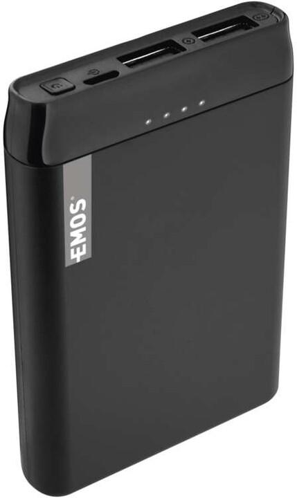 Emos Alpha 5 powerbanka, 5000 mAh + kabel USB-C, černá