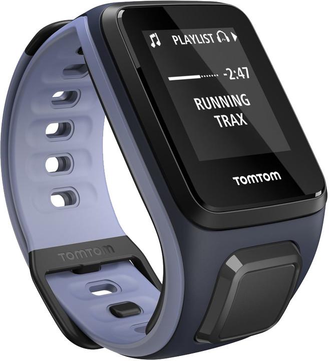 TOMTOM Runner 2 Cardio (velikost S), modrá/fialová