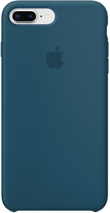 Apple silikonový kryt na iPhone 8 Plus / 7 Plus, vesmírně modrá