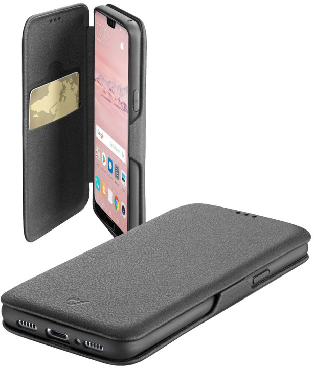 CellularLine pouzdro typu kniha Book Clutch pro Huawei P20 Pro, černá