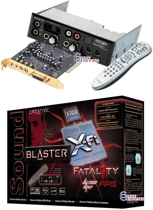 Creative Labs X-Fi Fatal1ty FPS 64MB X-RAM