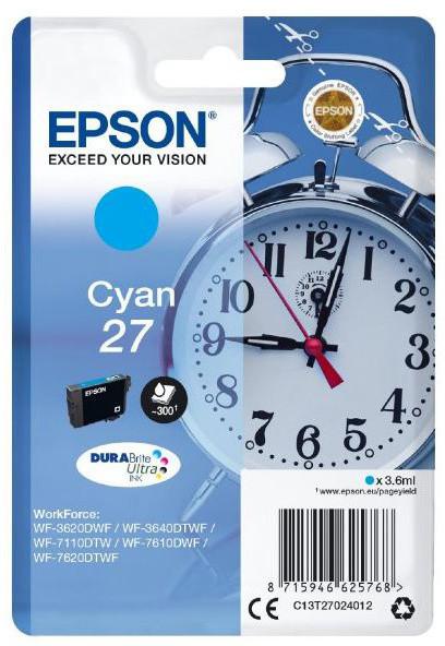 Epson C13T27024012, cyan