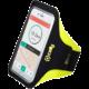 """CELLY ARMBAND sportovní neoprénové pouzdro, velikost XXL pro telefony do 6,2"""", žluté"""
