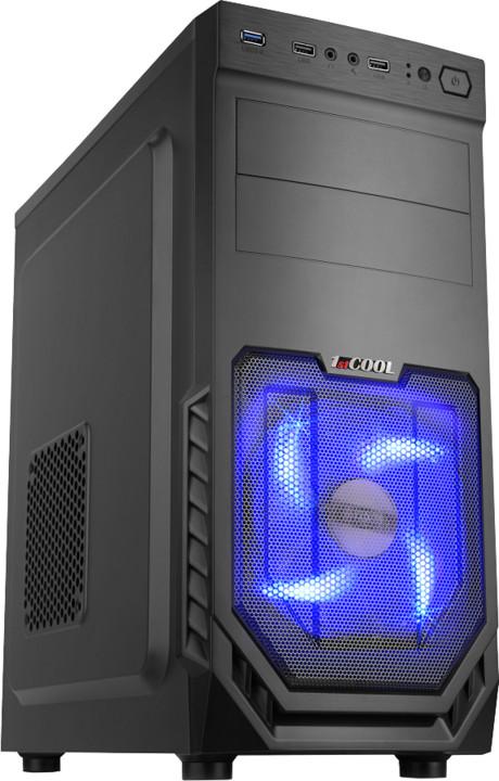 1stCool JAZZ 2, USB 3.0, blue fan, černá