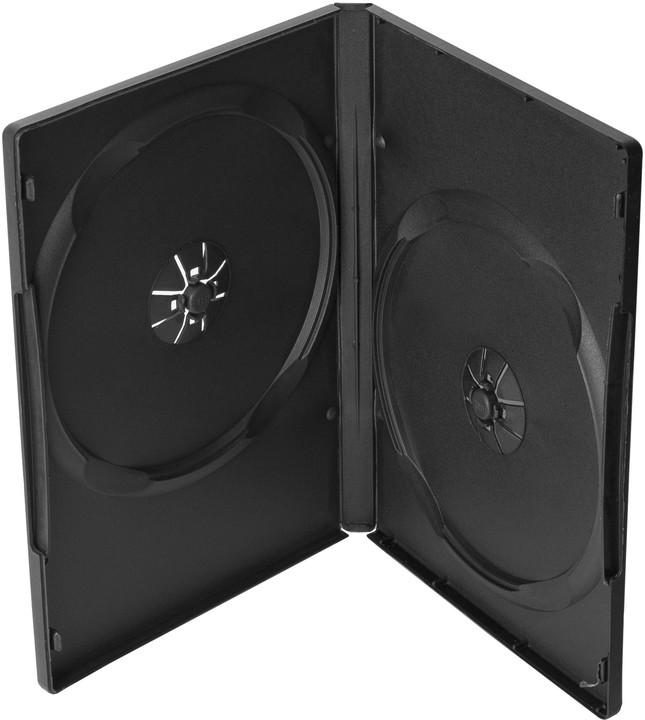 Cover It box:2 DVD 14mm černý - karton 100ks