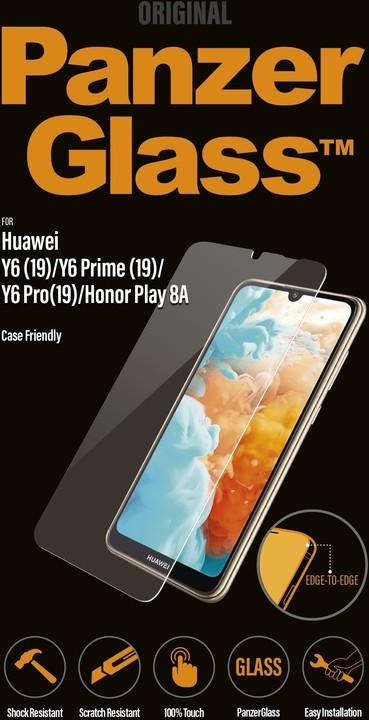 PanzerGlass tvrzené sklo Edge-to-Edge pro Huawei Y6/Y6s/Pro/Prime(19)/HonorPlay8A, čiré