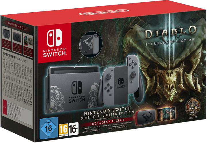 Nintendo Switch, šedá + Diablo III Limited Edition