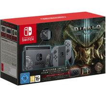Nintendo Switch, šedá + Diablo III Limited Edition  + 10x voucher na 100Kč slevu na hry (při nákupu nad 999 Kč)
