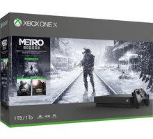 XBOX ONE X, 1TB, černá + Metro Trilogy CYV-00288