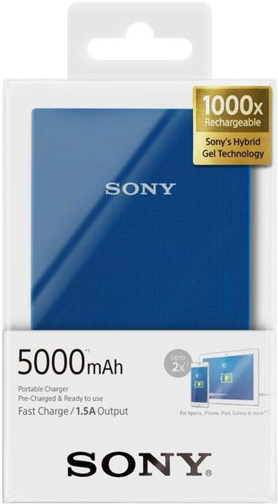 Sony CP-V5ABL přenosný zdroj USB, 5000mAh, modrá
