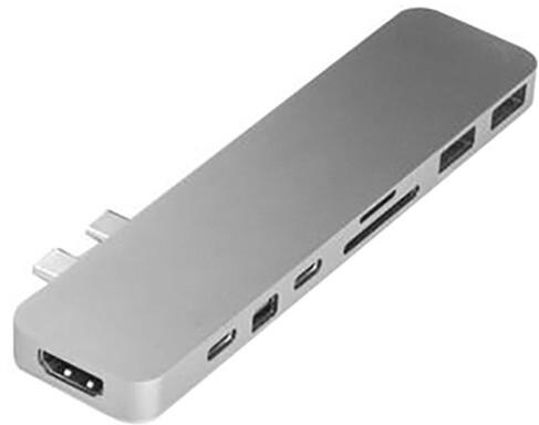 HYPER pro USB-C Hub pro MacBook Pro, stříbrný