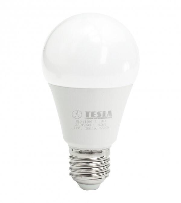 TESLA LED žárovka BULB E27, 11W, 6500K, studená bílá
