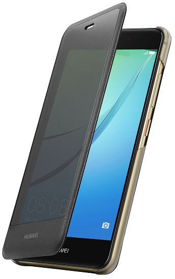 Huawei Original S-View pouzdro Dark pro Nova, šedá