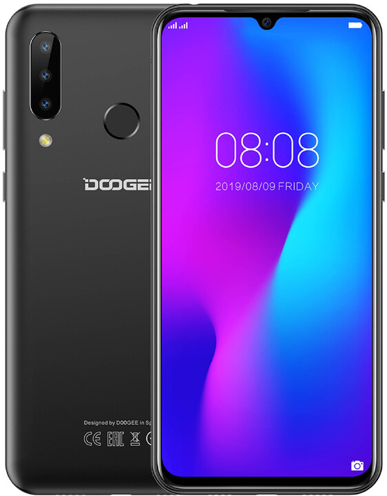 DOOGEE Y9 plus, 4GB/64GB, Black