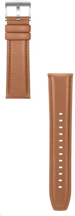 Huawei kožený řemínek pro Watch GT/GT2 (46mm), 22mm, hnědá