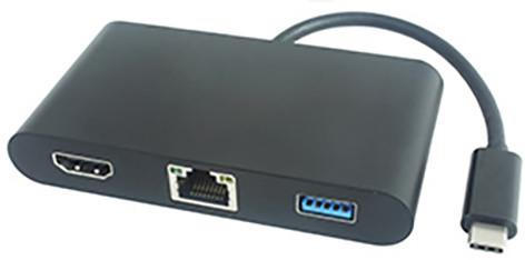 PremiumCord převodník USB3.1 na HDMI + Audio + USB3.0 + RJ45 + PD charge