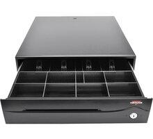 Virtuos pokladní zásuvka C420C, s kabelem, 9-24V, černá - EKA0051