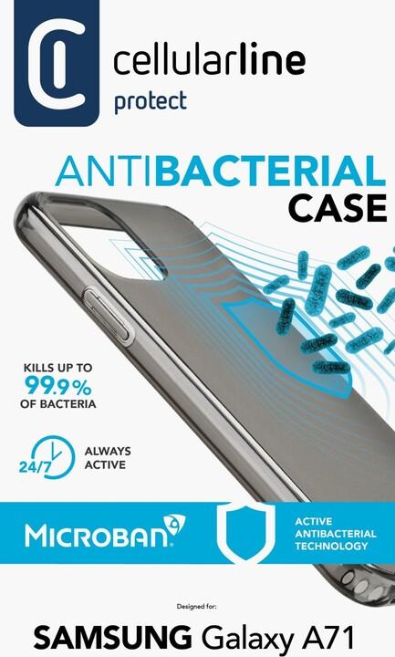 Cellularline ochranný kryt pro Samsung Galaxy A71, antimikrobiální, černá