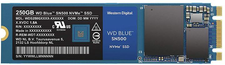 WD SSD Blue SN500, M.2 - 250GB