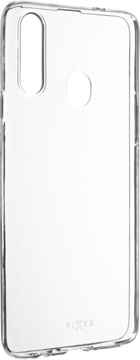 FIXED ultratenké TPU gelové pouzdro Skin pro Samsung Galaxy A20s, 0.6 mm, transparentní