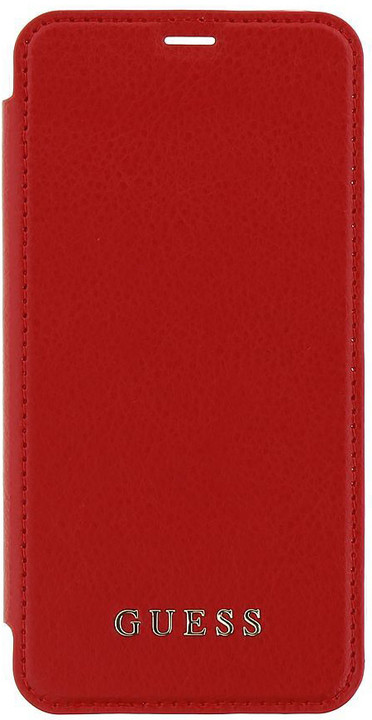 Guess Iridescent Book Pouzdro Red pro iPhone X