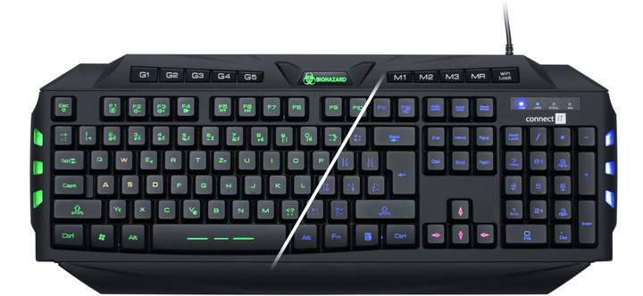 CONNECT IT Biohazard klávesnice pro hráče