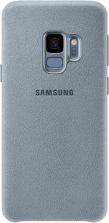 Samsung zadní kryt - kůže Alcantara pro Samsung Galaxy S9, mint