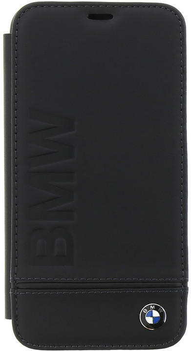 BMW Signature pouzdro typu kniha pro iPhone X, černé