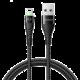 Mcdodo Peacock Lightning datový kabel s LED 1.8m, černá
