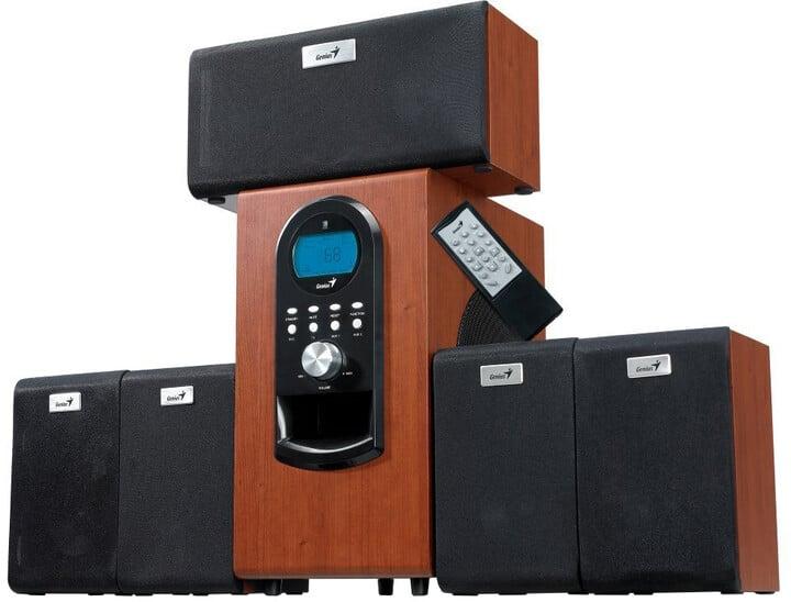 Genius SW-HF 5.1 6000 Ver. II, 5.1, dřevěné