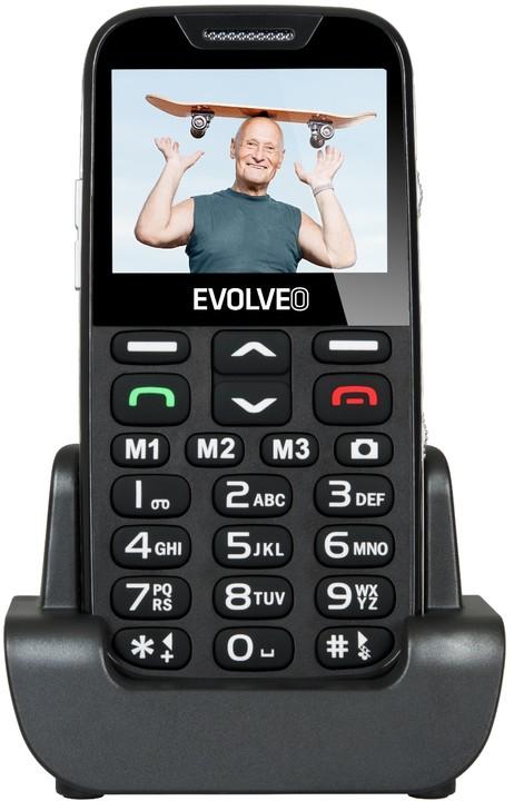 Evolveo EasyPhone XD s nabíjecím stojánkem, Black