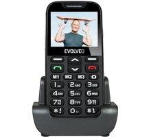 Evolveo EasyPhone XD s nabíjecím stojánkem, Black - EP-600-XDB