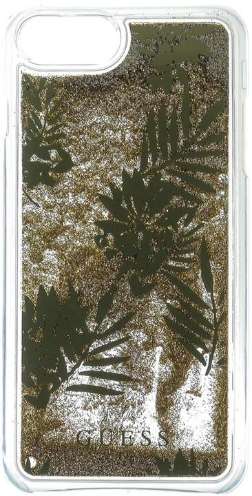 Guess Liquid Glitter Hard Palm Spring Gold pouzdro pro iPhone 7 Plus